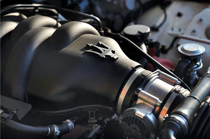 August 2011: THREE-PRONGED ATTACK - You're looking at the heart of change at Maserati. After years of making completely desirable Grand Tourers, it has come up with this, the 450bhp GranTurismo MC Stradale, a car aimed as much at the race track as the open road.