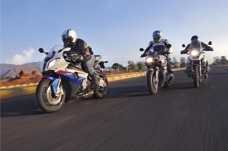 July 2011: BEEM ME UP, SCOTTY - One day plus three BMW bikes equals biker heaven. No dream sequence here, just 'another day at the office' for us.