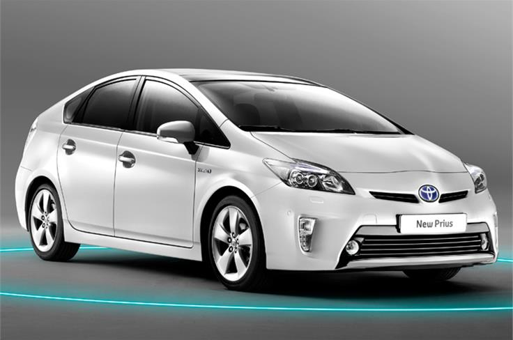New Toyota Prius to be displayed at the Auto Expo 2012.