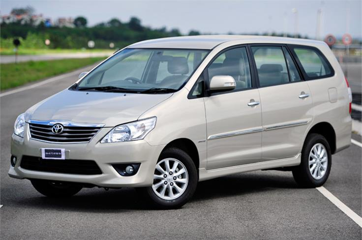 The face-lift Innova to be unveiled at the Auto Expo 2012.