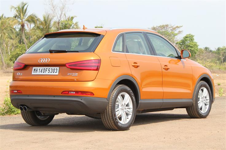 Rear styling mimics larger siblings like the Q5 and Q7.