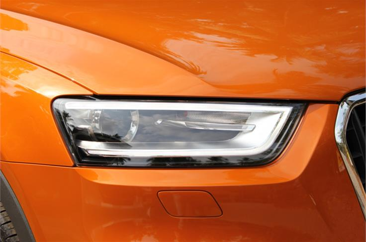 Headlamps get similar treatment as the new A4.