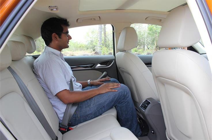 The rear seats are comfortable too, but there isn't as much headroom as you would get in the bigger cars.