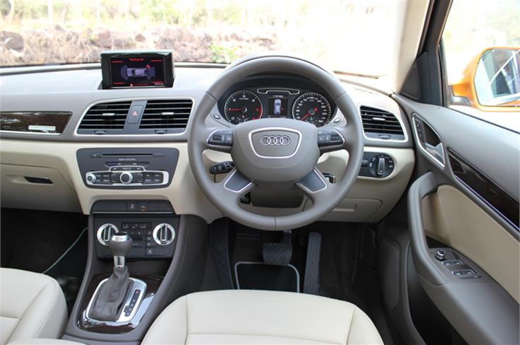Interior is as well built as the larger Q7.