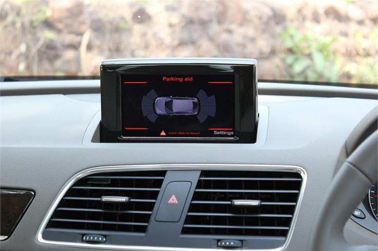 The pop-screen is just  MMI 'lite' and not the full-fledged system you get on the bigger Audis.
