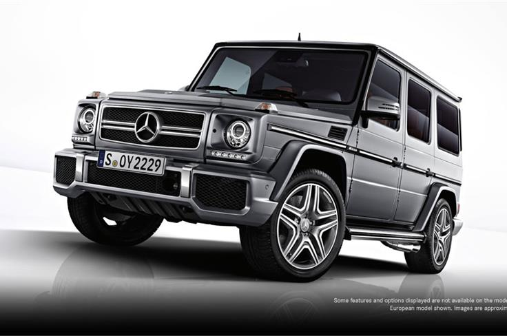 Mercedes will showcase the all-new G63 AMG along with the updated G-Class lineup. The G 63 replaces the G 55 AMG.