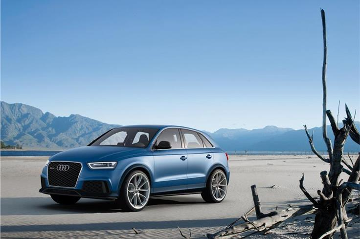 Audi also showcased the hi-performance RS Q3 concept. It shares engine with the recently launched TT-RS.