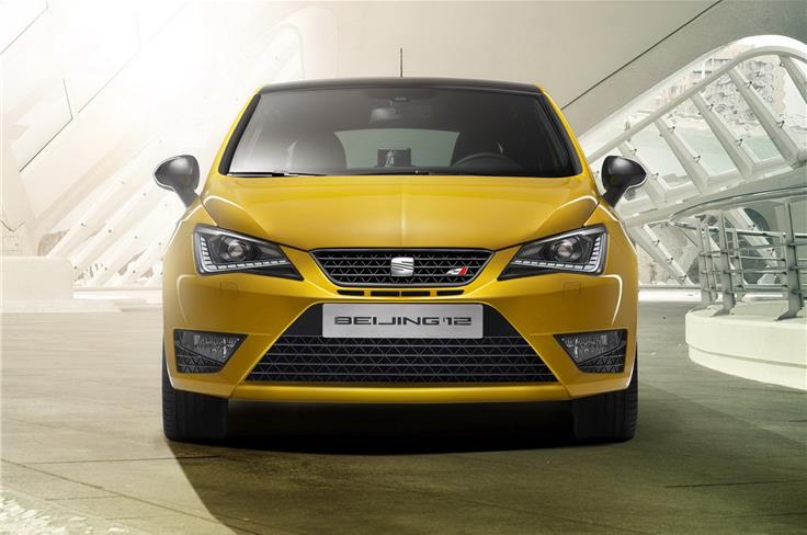 Seat revealed the updated Ibiza-Cupra at the upcoming Beijing Motor Show