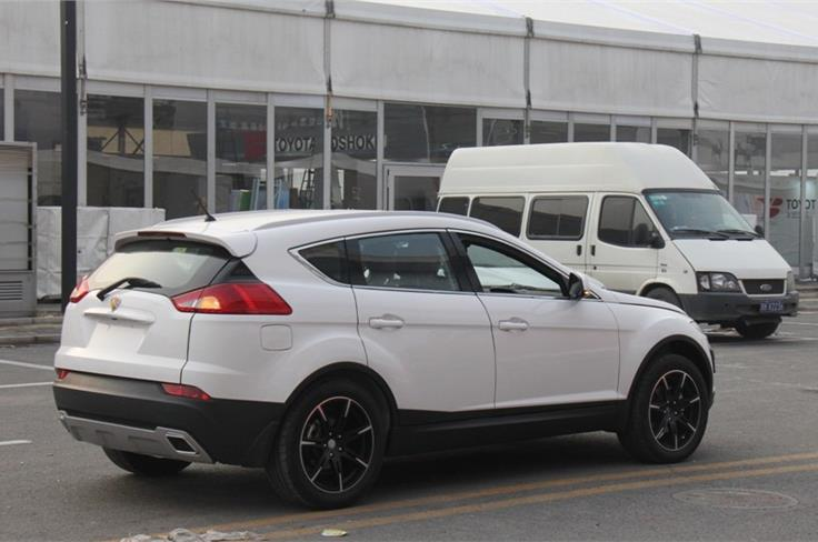 Styling seems to be inspired from the RR Evoque. This SUV is roughly the size of a Honda CR-V. Image source: Chinacartimes.com