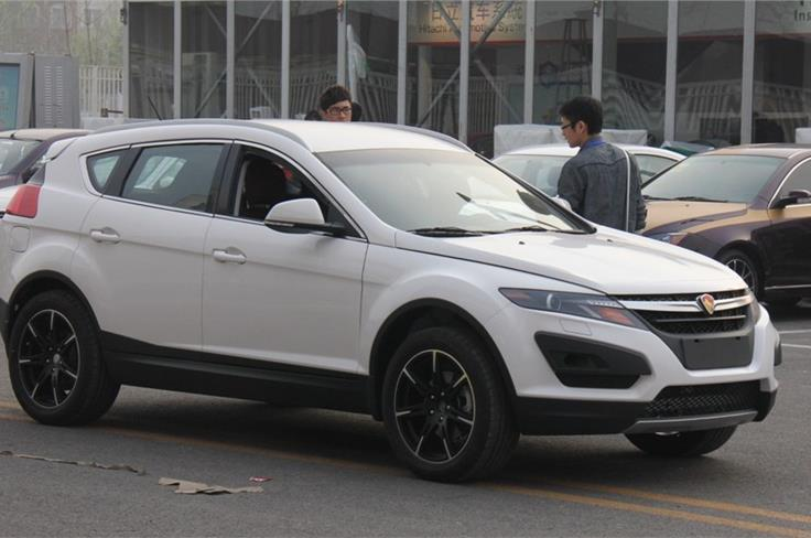 Youngman-Lotus this new SUV  on display at the Beijing Motor Show. Image source: Chinacartimes.com