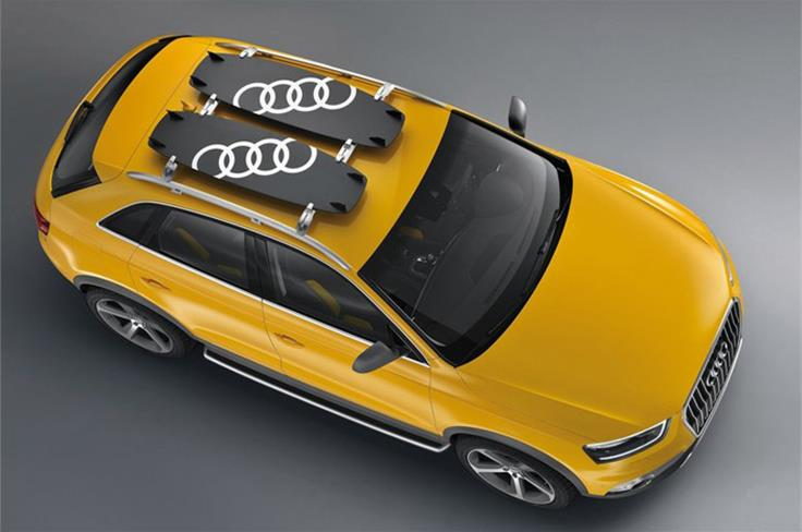 The concept is based on the trendy and fast-moving sport of kitesurfing. Mounted to the roof of the Audi Q3 jinlong yufeng are two kiteboards made of carbon fiber-reinforced polymer (CFRP).