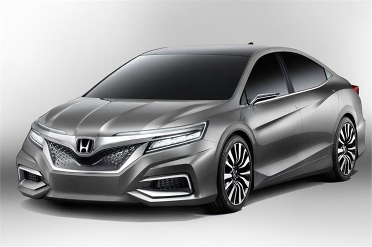 """This is the Honda Concept C saloon. The """"C"""" represents """"Cool,"""" """"Challenge,"""" and """"China."""