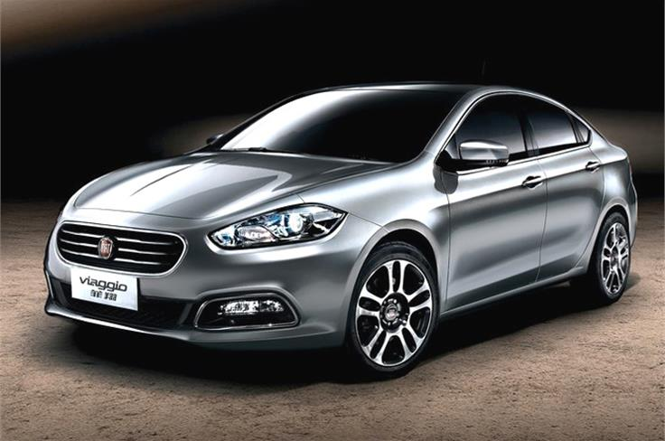 Fiat showcased the all-new Viaggio saloon. The car's name is Italian for voyage or journey.