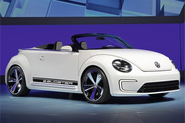 The latest E-Bugster retains the earlier concept's bold look, but it swaps its speedster-style roof structure for a roofless profile that insiders suggest provides clues to the look of the new Beetle cabriolet.