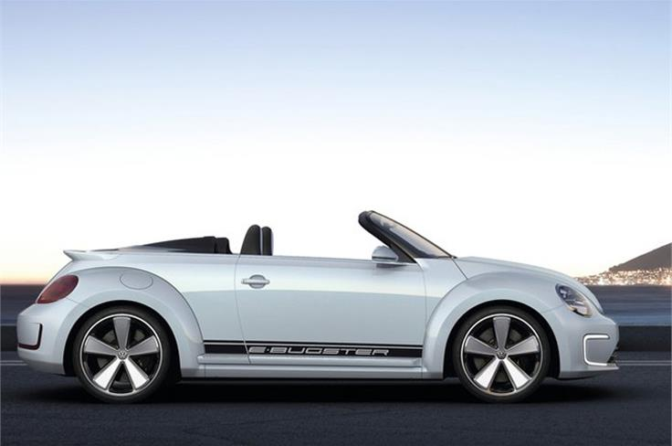 Volkswagen is previewing the look of its new Beetle cabriolet with an open-top version of its electric-powered E-Bugster concept at the Beijing motor show.