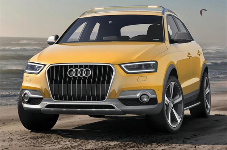 """This is the Audi Q3 Jinlong Yufeng special-edition concept. The word Jinlong Yufeng means """"Golden Dragon in the Wind."""""""