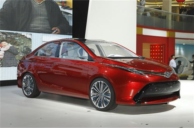 The Toyota Dear Qin concept is at Beijing in both saloon and hatchback guises