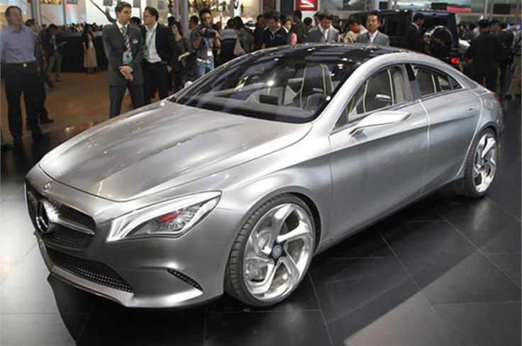 The Mercedes CSC concept will make production in 2013 badged CLA