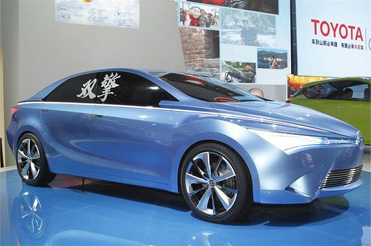 The Toyota Yungdong Shuangqing is a sleek hybrid saloon concept engineered in China