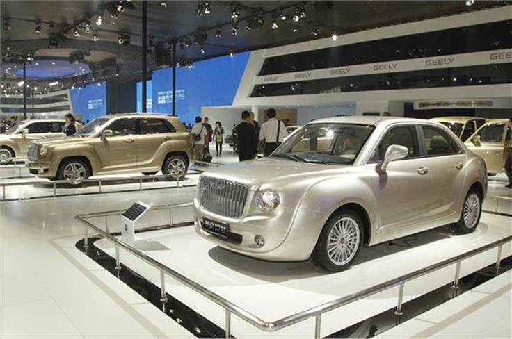 It didn't take long for the front-end of the new Bentley SUV concept to crop up on a Chinese car