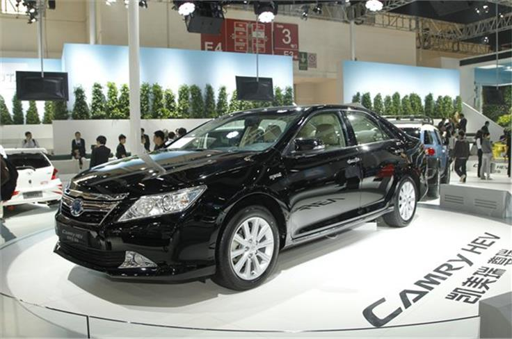 Chinese buyers can get a hybrid version of the Toyota Camry saloon