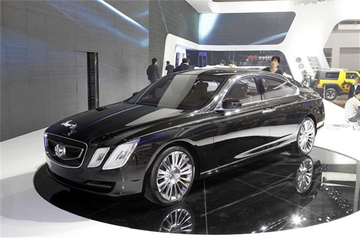 BAIC's Beijing motor show stand was dominated by a huge (5.2m-long) C90L concept car powered by a 6.0-litre V12 engine.