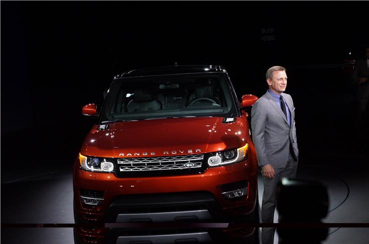 The Range Rover Sport launch included an appearance from Daniel Craig
