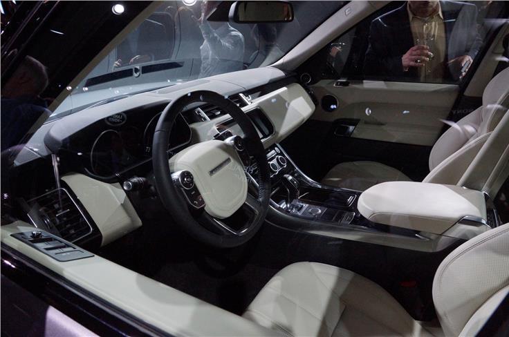 Interior borrows design themes found in the latest Range Rover