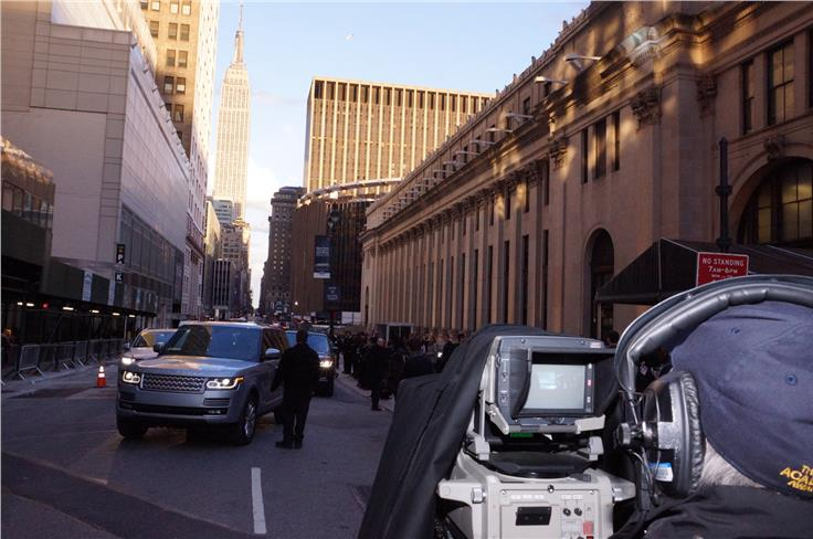 Streets of Manhattan were closed for the Range Rover Sport debut