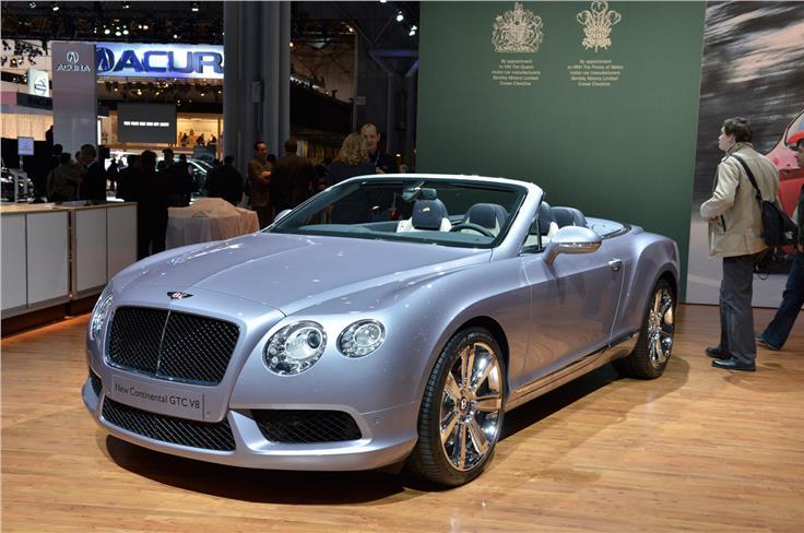 The V8 Bentley Continental GTC produces 500bhp