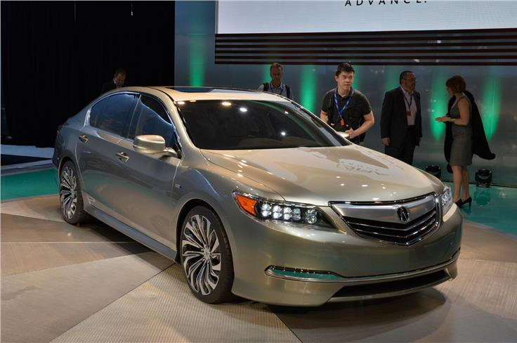 The RLX is a Acura's flasgship saloon. Concept previews the next model