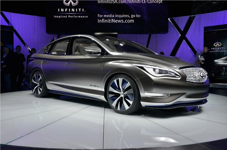 Electric Infiniti LE luxury saloon concept will make production in 2014
