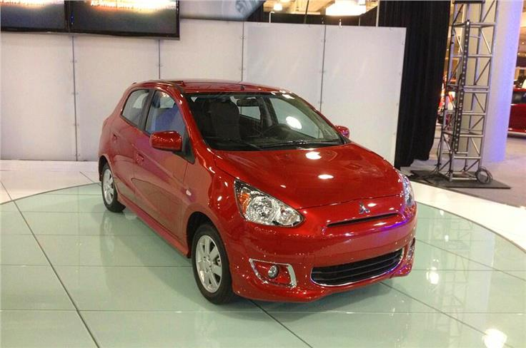 Mitsubishi showcased its new small car, the Mirage at the show.