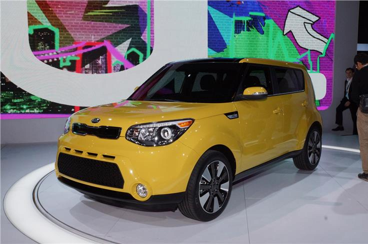 Kia has incoporated design themes from the Track'ster concept in the new Soul.