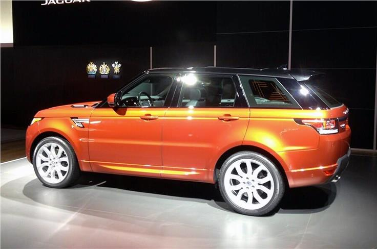 Design cues from the Evoque are clear to see in the Range Rover Sport