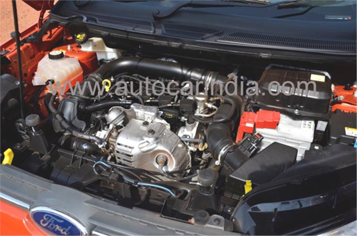 1-litre Ecoboost engine develops 123bhp and 17.33kgm of torque