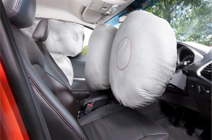 Dual airbags are available on the Titanium trim while the optional pack includes side curtain airbags