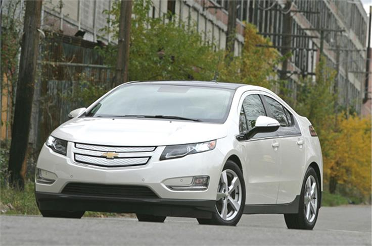 The Volt is also badged as the Vauxhall Ampera in the UK