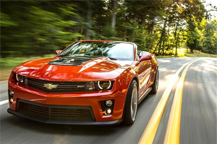 This Camaro ZL1 convertible wears its badge proudly and prominently