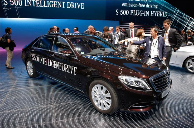 The Mercedes S500 plug-in hybrid is the third hybrid in the S-class range.