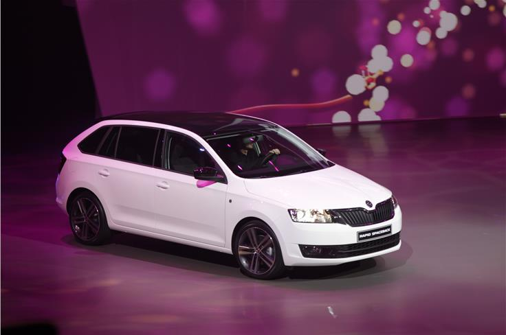 Skoda revealed the Rapid Spaceback at the show.