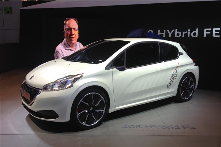 The 208 Hybrid FE is a concept car built by the former Peugeot Le Mans team.