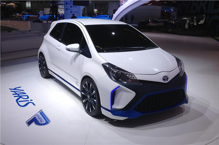 Toyota took the wraps off the Yaris Hybrid-R.