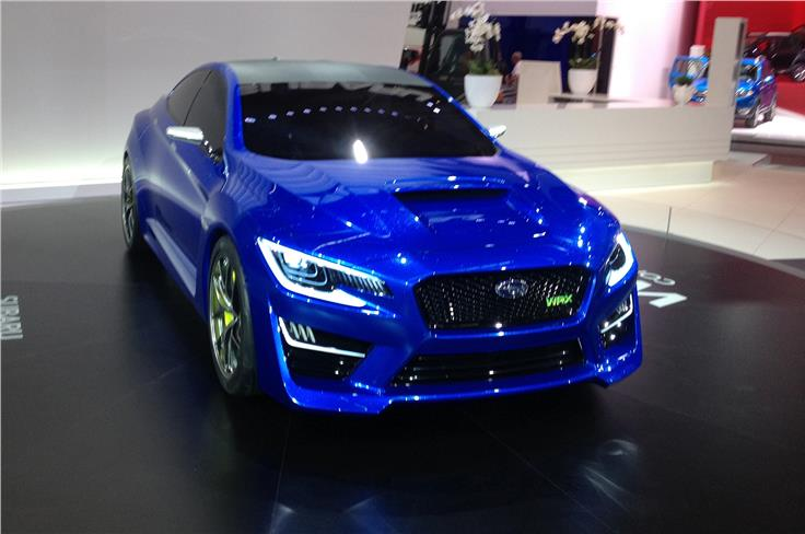 Subaru unveiled the WRX concept, underlining its determination to get back to its performance roots.