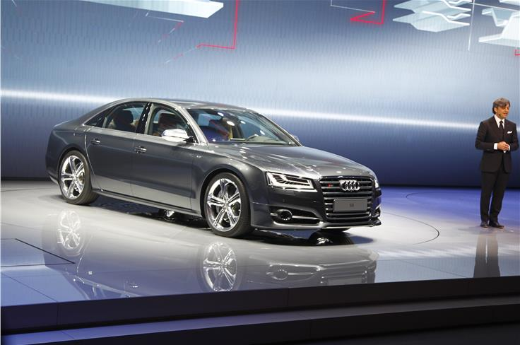 The facelifted Audi A8 features more powerful engines and new LED headlight tech among others.