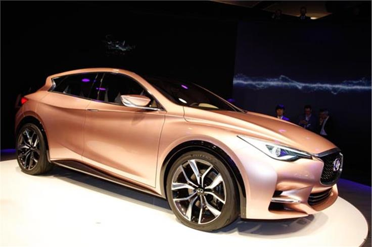 Infinity's new Q30 is set to use the same MFA platform as the Mercedes A-class.