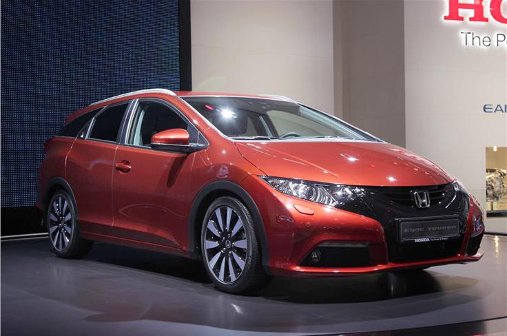 Honda claims that the Civic Tourer has the best seats-up luggage capacity in its class.