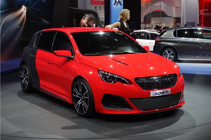 Peugeot revealed the 270bhp 308 R alongside the standard 308 hatch.