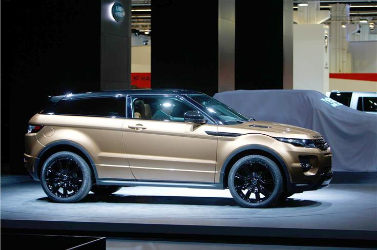 The updated, 2014 Range Rover Evoque with a nine-speed ZF gearbox made its debut.