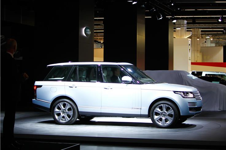 Hybrid versions of the Range Rover and Range Rover Sport were displayed.
